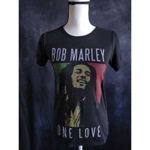 Zion Bob Marley Black Colorful Graphic T-Shirt S